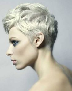 This pixie is cut full of layers and styled to perfection