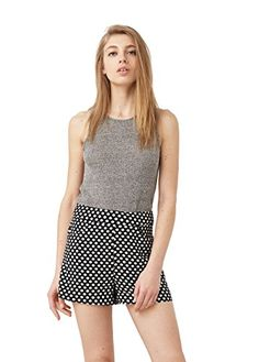 Mango Womens Printed Shorts White 8 ** Be sure to check out this awesome product.(This is an Amazon affiliate link and I receive a commission for the sales)