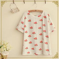 Buy 'Fairyland – Short-Sleeve Watermelon Patterned T-Shirt' with Free International Shipping at YesStyle.com. Browse and shop for thousands of Asian fashion items from China and more!
