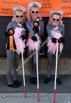 Three Blind Mice kids halloween costume for a group of 3