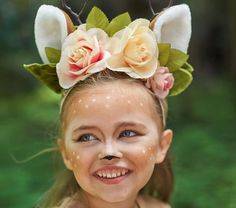 Adorned with whimsical woodland accents like flowers, tulle and luxe faux-fur, this enchanting deer costume is bound to be a pretend play favorite for years to come. Deer Costume For Kids, Little Girl Halloween Costumes, Pop Culture Halloween Costume, Couple Halloween, Halloween Kids, Costumes Kids, Costume Ideas, Woman Costumes, Pirate Costumes