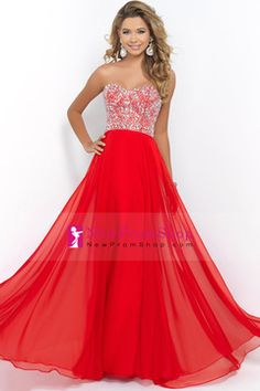 2015 Gorgeous Sweetheart A Line Prom Dress Floor Length Chiffon With Beadings