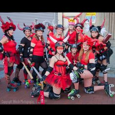 Running of the bulls NOLA style!!! Pearl River Roller Derby Swamp Dolls!! Photo by Koch Photography:)