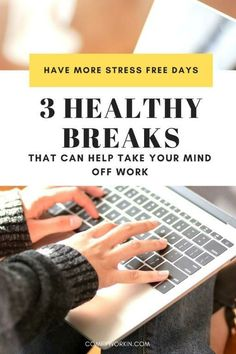 If you feel stressed, overwhelmed and often end your working day completely drained, chances are that you are not managing your breaks correctly. Taking small breaks between 2 tasks can help you take your mind off your work during a stressful day. This post will provide you with 3 ways to improve your overall working rhythm. Giving work from home tips, activities to do at home to relief your stress and ways to switch off from work for few minutes to re energize your body and mind. wfhtips… Things To Do At Home, Work From Home Tips, Routine Quotes, How To Be More Organized, Focus At Work, Work Productivity, Off Work, Time Management Skills, Good Notes