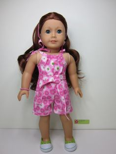 American girl doll clothes  Pink flowered by JazzyDollDuds on Etsy,