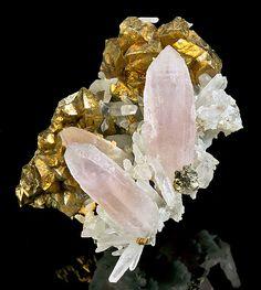 Amethyst Quartz and Chalcopyrite - Cavnic, Maramures County, Romania / Mineral Friends <3
