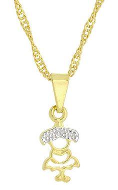 Gargantilha folheada a ouro e pingente menininha c/ aplique de prata, Clique: http://www.imagemfolheados.com.br/detalhes_prod.asp?id=G0785&a=18377