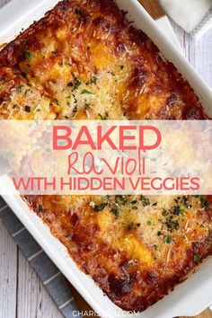This is a different take on ravioli. It's baked and even has vegetables in it! Best of all, it takes 15 minutes of prep and just 15 minutes to cook. This baked ravioli with hidden veggies is so tasty and great for a quick and easy weeknight family dinner