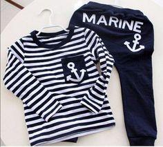 Conjunto Infantil Marine. Frete Grátis