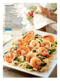 Easy, quick and tasty. Made with Hodgson Mill whole wheat gourmet pasta with milled flax seed and used water in place of olive oil. Even the kids liked it. Seafood Recipes, Pasta Recipes, Cooking Recipes, Costco Recipes, Lamb Loin Chops, Shrimp Fettuccine, Orzo, Fish And Seafood, Main Meals