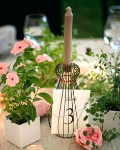 Top 5 Never Been Seen Wedding Table Centerpieces - Put the Ring on It Potted Plant Centerpieces, Outdoor Table Centerpieces, Simple Wedding Centerpieces, Flower Centerpieces, Reception Decorations, Potted Plants, Potted Flowers, Table Decorations, Red Rose Wedding