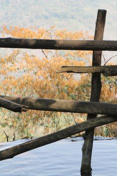 #mekong #laos #wood #fences