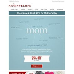 RedEnvelope - Save 25% for Mother's Day
