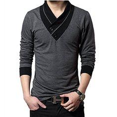 Minibee Men's Short Sleeve V Neck T-shirt Gray XL Minibee http://www.amazon.com/dp/B00VK25UAC/ref=cm_sw_r_pi_dp_k5zMwb0A1DVGH