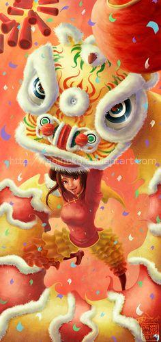 Year of the Lion by aoineko.deviantart.com on @DeviantArt