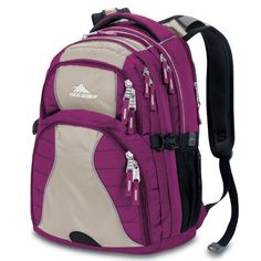 Camping Daypack Backpacks - Pin it! :)  Follow us :))  zCamping.com is your Camping Product Gallery ;) CLICK IMAGE TWICE for Pricing and Info :) SEE A LARGER SELECTION of Camping Daypack Backpacks at http://zcamping.com/category/camping-categories/camping-backpacks/daypack-backpacks/ - camping, backpacks, daypacks camping gear, camp supplies - High Sierra Swerve Backpack, Boysenberry Almond/Pink, 19x13x7.75-Inch « zCamping.com
