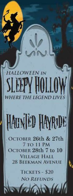 Halloween in Sleepy Hollow, NY Hayride...would love to go back to New York