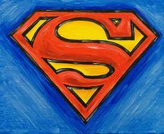 Superman Logo, acrylic on canvas. #superman