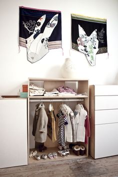 great idea for girl wordrobe - on the wall Hella Jongerius for ikea Photos : Louise Desrosiers