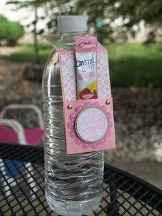 Blue Eyed Blessings: water bottle tag drink holder thingamajig