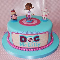 Doc McStuffins cake for one of my twins 5th birthday