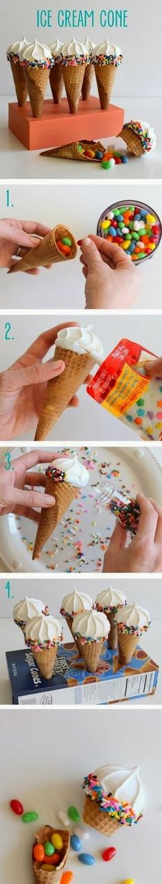 """Pic tutorial for candy """"ice cream"""" cone"""