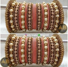 Chuda Bangles, Kundan Bangles, Silk Bangles, Bridal Bangles, Indian Jewelry Sets, Indian Wedding Jewelry, Stylish Jewelry, Fashion Jewelry, Thread Bangles Design