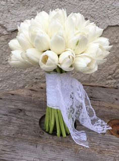 Tone in Tone - Tone in Tone White Tulip Bouquet, White Bouquets, White Tulips, Floral Design, Bridal, Create, Decor, Self, Decoration