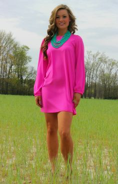 Lavish Boutique  - Pretty In Pink Dress: Pink, $38.00 (http://www.lavishboutique.com/pretty-in-pink-dress-pink/)