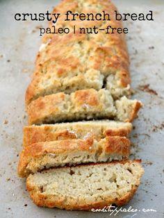 Paleo French Bread (nut-free)    #CookItUpPaleo
