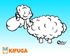Entwurf für das Schaf aus der Konzept-Art Phase.