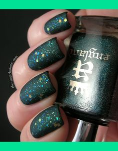 Matte layering: Kiko 231 Sparkle Touch top coat over A England Saint George | Jeanette S.'s (theswatchaholic) Photo | Beautylish