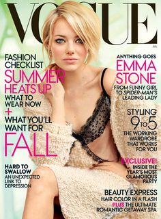 Emma Stone in H.Stern Stars earrings on Vogue US