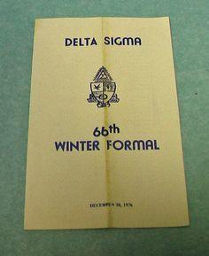 1976 Mobile Alabama Delta Sigma 66th Winter Formal  Fraternity Vintage Paper