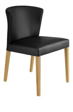 VALENTINA Chaises de salle à manger Noir Bois