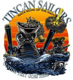 Tin Can Sailors T-Shirt Navy Destroyer Military Shirt $19.95