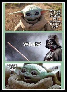 Cute Memes, Really Funny Memes, Stupid Funny Memes, Hilarious, Yoda Meme, Yoda Funny, Funny Disney Jokes, Funny Animal Jokes, Yoda Images