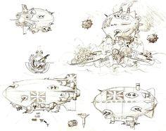 Air Machine, Air Planes, Steampunk, Ships, Deviantart, Color, Boats, Colour, Colors
