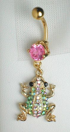 Unique Belly Ring  Betsey Johnson Frog by pondgazer2004 on Etsy, $12.95