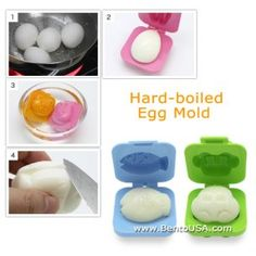 Fish car egg shaper hard boiled egg mold yudetamagokko