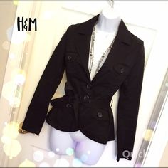 H&M Lightweight Jacket Upper cute lightweight jacket! Perfect for spring! Has a tie at the waist! Good condition(: H&M Jackets & Coats