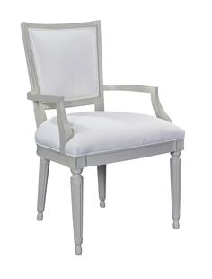 With classically turned legs, modern scale, and partial open construction, the Velours Dining Side and Arm Chair offers dressy sophistication while remaining current. Collecting antique chairs remains a passion of Suzanne Kasler's and the Velours are inspired by a favorite antique in her personal collection. A true modern classic.