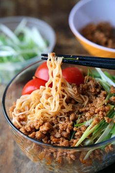Spicy pork ramen noodles (ja ja men) - Pickled Plum. We love this dish! Made with ramen noodles and  and used the left overs the next day in a sandwich, just like sloppy joe's.