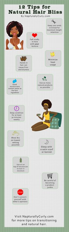 12 Tips for Natural Hair Bliss (Infographic)