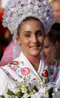 A beautiful traditionally dressed Matyo bride from Hungary. #traditional #costume #clothing #folk #dress #travel #woman #bride #wedding