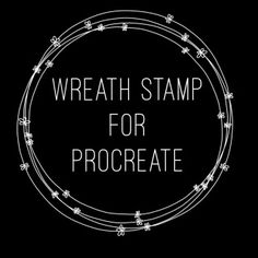For all the hand letterers who do not wish to draw. Just add the stamp wreath and add your hand lettering to the center! That's it! and it's FREE!