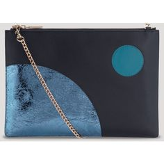 Whistles Clutch - Bloomingdale's Exclusive Rivington (3.175 UYU) ❤ liked on Polyvore featuring bags, handbags, clutches, navy leather purse, genuine leather purse, leather crossbody handbags, leather purse and leather cross body handbags