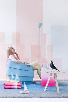 fluo meets pastel.   trendproduction and covershoot together with anne-sophie markus for dutch design magazine   eigen huis & interieur.  floorknaapen.com