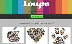 Para los fanáticos de hacer collages y álbumes originales tenemos Loupe, un servicio que nos presenta Ovey Yeung y que permite realizar composiciones