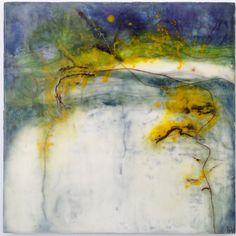 """""""Dreaming Beginnings"""" - encaustic, Maggie Ayres"""